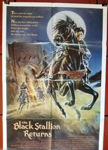 "THE BLACK STALLION RETURNS {KELLY RENO} 27""x41"" Original Movie Poster 80s"