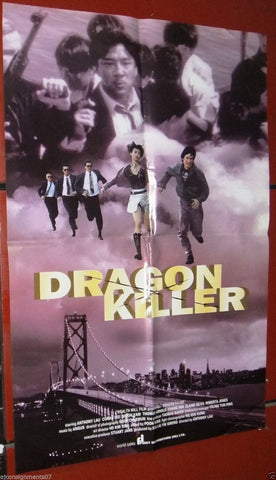 Dragon Killer Anthony Lau) Kung Fu Original Hong Kong Movie Poster 90s