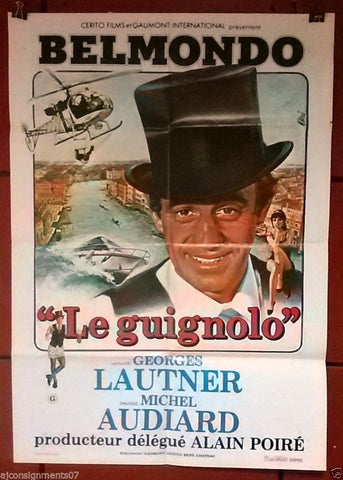 Le Guignolo (Jean-Paul Belmondo) Original Lebanese Movie Poster 80s
