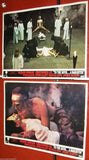 Set of 8} To the Devil a Daughter {Christopher Lee} British Movie Lobby Card 70s