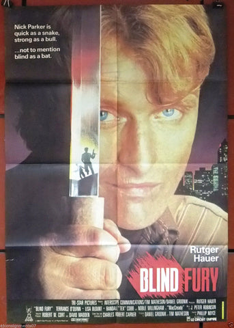 BLIND FURY {RUTGER HAUER} Original Lebanese Movie Poster 80s