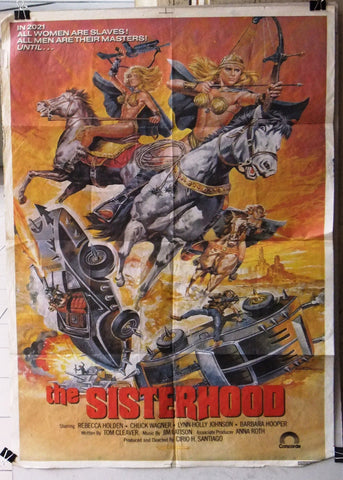 "THE SISTERHOOD 39x27"" Lebanese Orginal Movie Poster 80s"