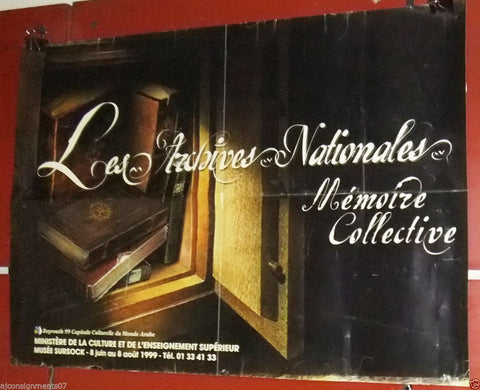 Les Archives Nationales Lebanese Exhibition Beyrouth 99 Original Poster 90s