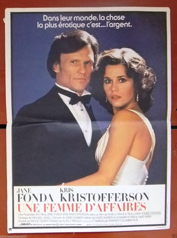 UNE FEMME D'AFFAIRES {JANE FONDA} Original French Movie Poster 80s