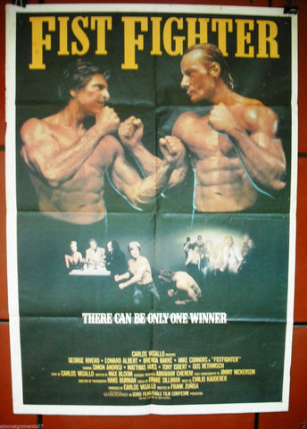 FIST FIGHTER {JORGE RIVERO} Original Lebanese Movie Poster 80s
