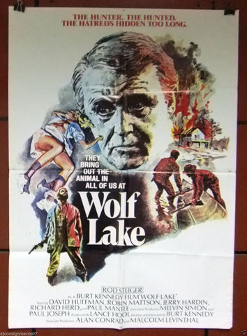 "Wolf Lake (Burt Kennedy) 40x27"" Original Lebanese Movie Poster 70s"