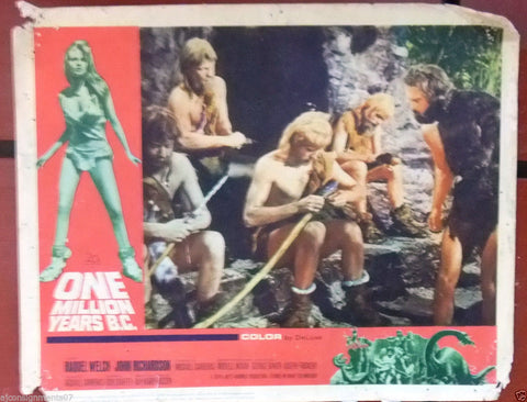 "(Set of 4) ONE MILLION YEARS B.C. (Raquel Welch) 14x11"" Org. Lobby Cards 1960s"