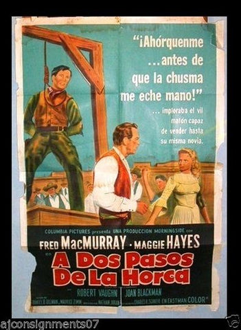 Good Day for a Hanging Argentinean Movie Poster 50s