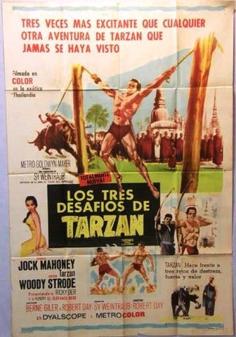 Tarzan's Three Challenges Argentinean Movie Poster 60s