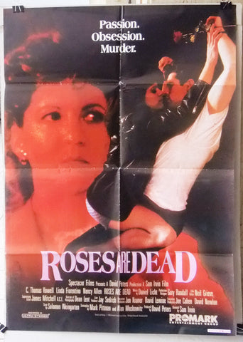 "Roses are Dead (Natasha Juravic) 39x27"" Original Lebanese Movie Poster 90s"