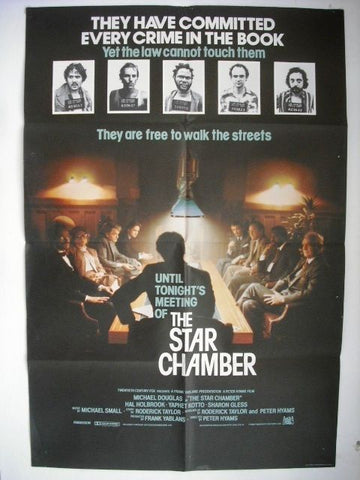 "The Star Chamber 27x40"" Original INT. Movie Poster 80s"