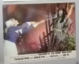 Set of 7 Theatre of Death Christopher Lee 11x14 ORG British Movie Lobby Card 70s