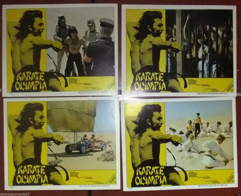 {Set of 8} karate Olympia, Kill or Be Killed Org. South Africa Lobby Cards 70s