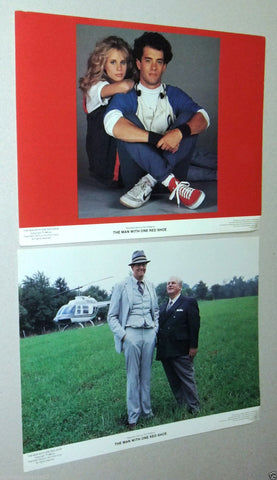 (Set of 8) The Man With One Red Shoe Tom Hanks 11X14 USA Original LOBBY CARD 80s