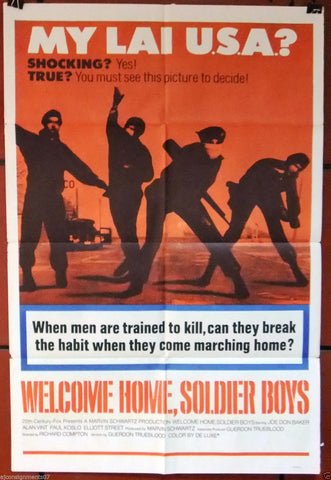 WELCOME HOME, SOLDIER BOYS {Joe Don Baker} 27x41 Original U.S. Movie Poster 70s