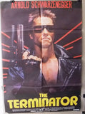 "THE TERMINATOR (Arnold) 39x27"" Original Lebanese Movie Poster 80s"