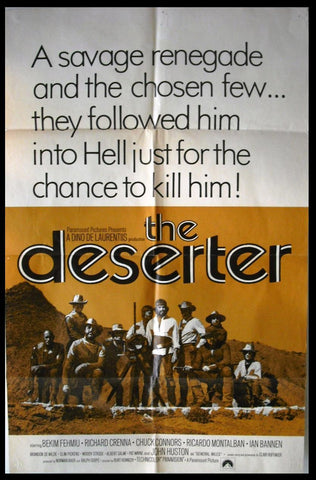The Deserter {Bekim Fehmiu} Original International Movie Poster 70s