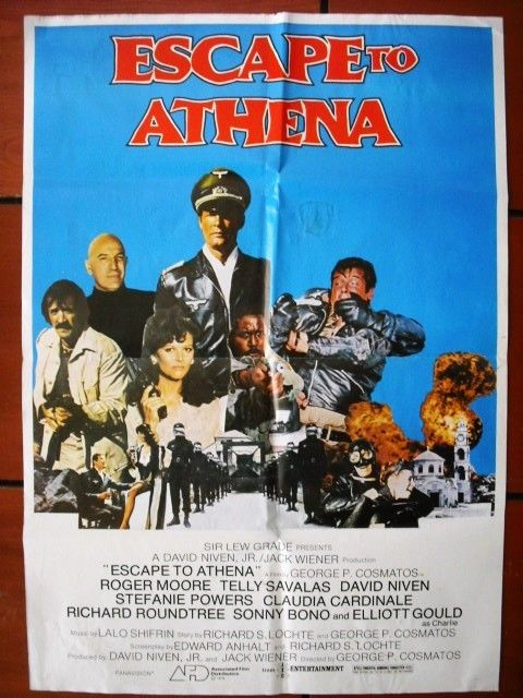 Escape to Athena (Roger Moore) Lebanese Movie Poster 70s