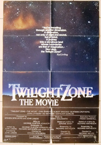 "Twilight Zone: The Movie {Vic Morrow} Original 41x27"" U.S. Movie Poster 80s"
