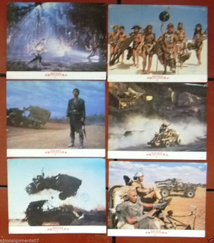 "SET OF 8 MAD MAX BEYOND THUNDERDOME MEL GIBSON 11X14"" UK Original LOBBY CARD 80s"
