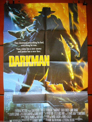"Darkman {Liam Neeson} 40x27"" Original Lebanese Movie Poster 90s"