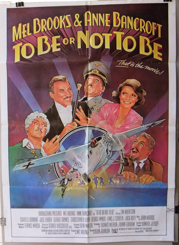 "TO BE OR NOT TO BE (Mel Brooks) 39x27"" Original Lebanese Movie Poster 80s"