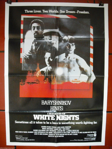 "WHITE NIGHTS  {GREGORY HINES}  27""x41"" Orig. Movie Poster 80s"