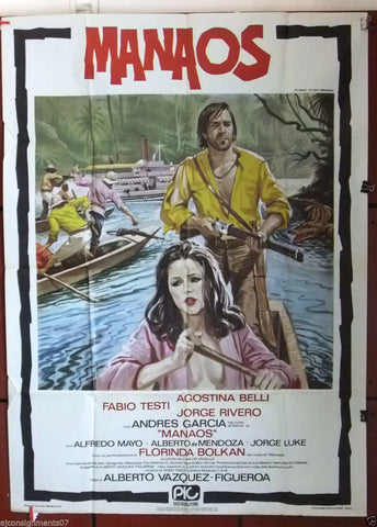 MANAOS {Fabio Testi} Original Italian 2F Movie Poster 1980s