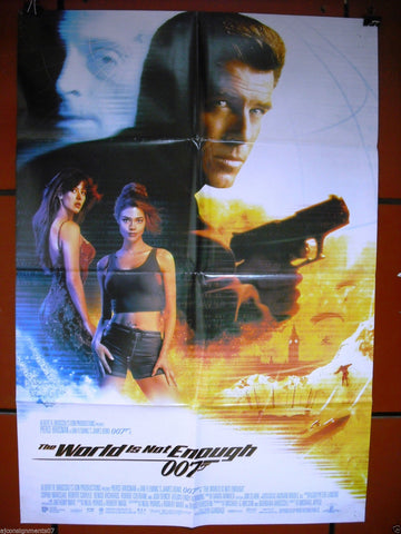 THE WORLD IS NOT ENOUGH  {JAMES BOND} Lebanese Movie Poster 90s