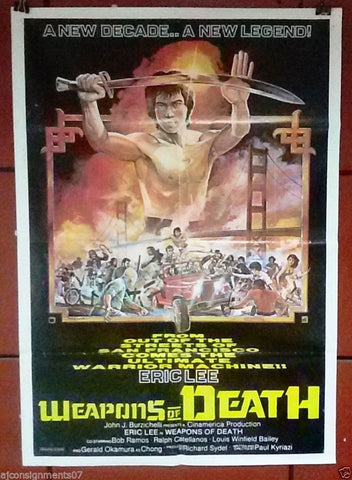 Weapons of Death (Eric Lee) Lebanese Movie Poster 80s