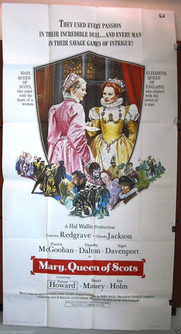 "Mary, Queen Of Scots {Vanessa Redgrave} - 3sht Org 41""x81"" Movie Poster 1970s"