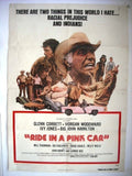 "Ride in a Pink Car 27x41"" Original Movie Poster 70s"
