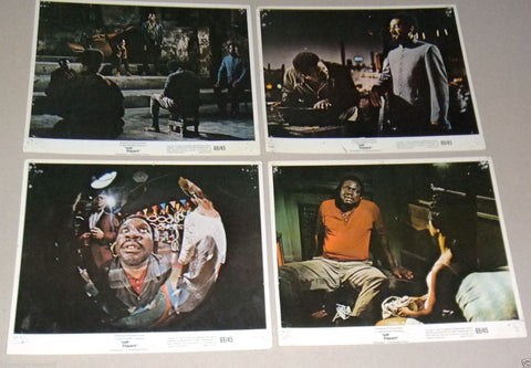"(Set of 10) Up Tight {RAYMOND ST. JACQUES} 10x8"" ORG Film Lobby Cards 60s"