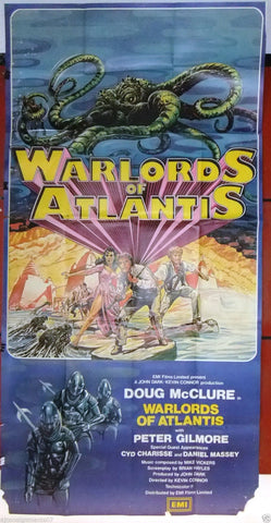 "Warlords of Atlantis {Doug McClure} 3sht Org 41""x81"" British Movie Poster 1970s"