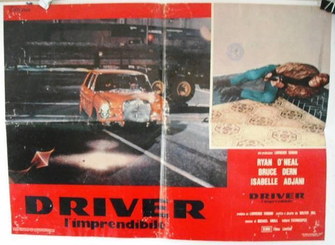 Driver - Ryan O'Neal Movie British/US Style G Lobby Card 70s