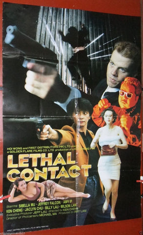 Lethal Contact (Sibelle Hu) Kung Fu Original Hong Kong Movie Poster 90s