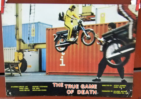 The True Game of Death (Bruce Lee) Kung Fu Film Lobby Card 80s