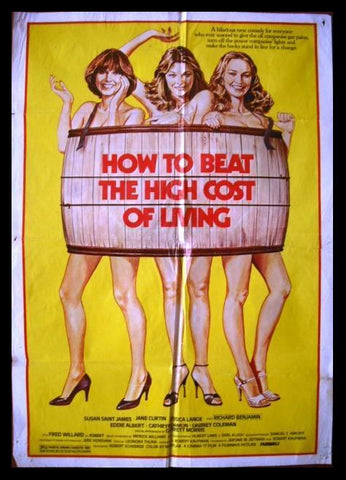 How To Beat The High Cost Of Living {Jane Curtin } Lebanese Film Poster 80s