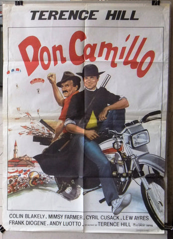 "Don Camillo TERENCE HILL 39x27"" Lebanese Orginal Movie Poster 80s"