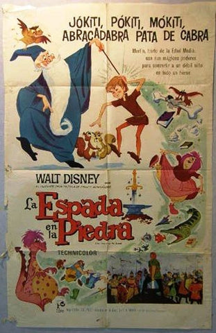 The Sword in the Stone Argentinean Movie Poster 60s