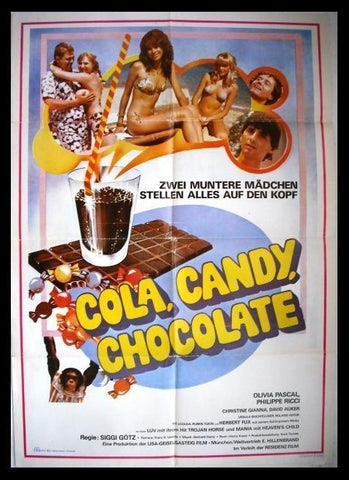 "Cola, Candy, Chocolate ""Olivia Pascal"" Lebanese Original Movie Poster 70s"