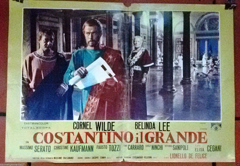 (Set of 5) Costantino il Grande {Lia Angeleri} Italian Movie Lobby Card  60s