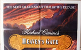 "HEAVEN'S GATE {Christopher Walken} 27""x41"" Original Movie Poster 80s"