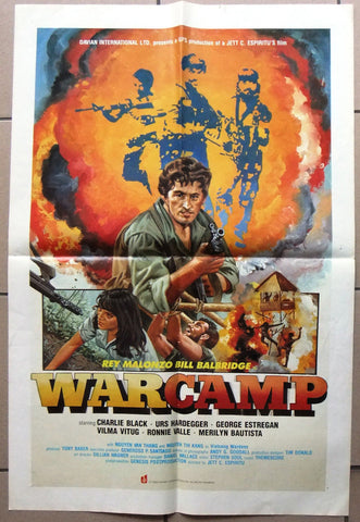WARCAMP (REY MALONZO) Original Hong Kong Davian International Movie Poster 80s