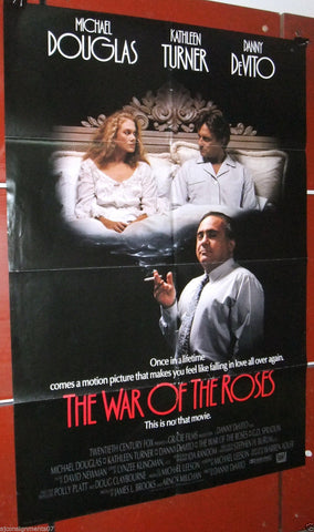 "The War of the Roses {Michael Douglas} 27""x41"" Original DB U.S. Movie Poster 80s"
