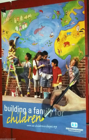 Building a Family for Children SOS International Lebanese Poster 90s