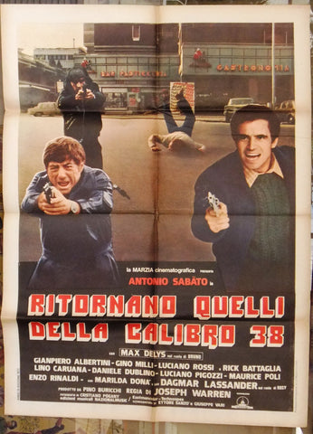 RITORNANO QUELLI DELLA CALIBRO 38 Italian movie Poster (2F) 70s