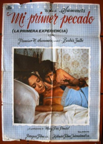 Mi Primer Pecado Spanish Movie Poster 70s