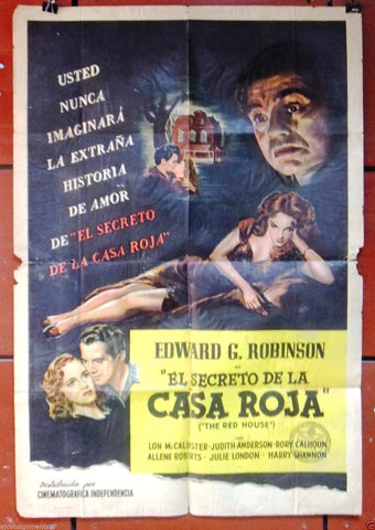 The Red House, Casa Roja  {Edward G. Robinson} Argentinean Movie Poster 40s