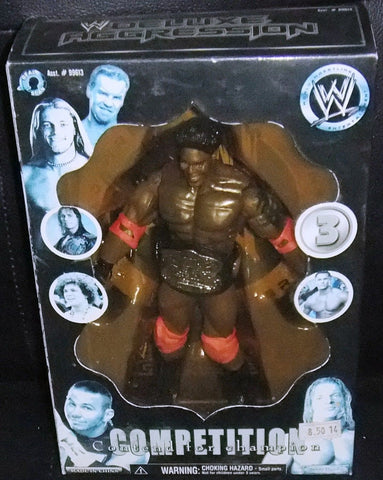 Competition Contend For Champion Action #3 Figure WWE Jakks Wrestler Rare 2005